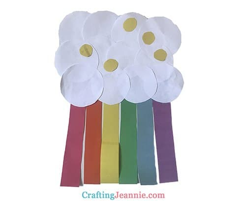 rainbow craft with cloud and coins crafting Jeannie