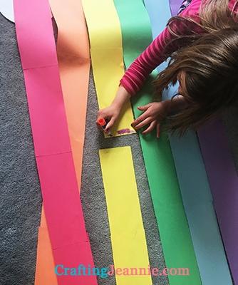 gluing large door rainbow together