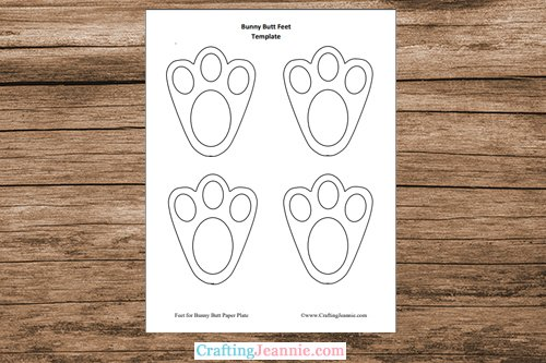 bunny feet template printable pages