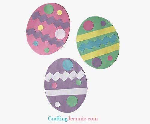 Easy Egg Craft by Crafting Jeannie