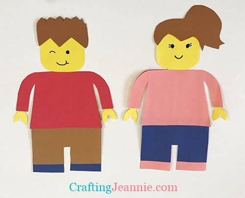 Lego Minifigure paper craft by Crafting Jeannie