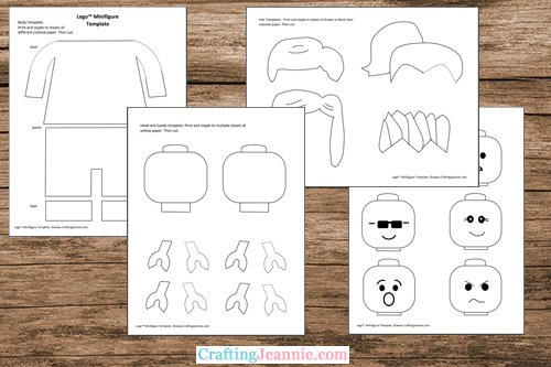 Lego craft template printable pages by Crafting Jeannie