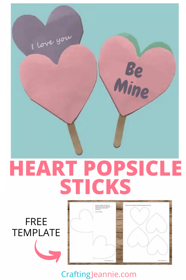 Popsicle Stick heart craft picture for pinterest Crafting Jeannie