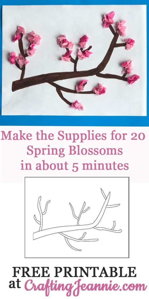 Spring Blossom craft make 20 in about 5 minutes