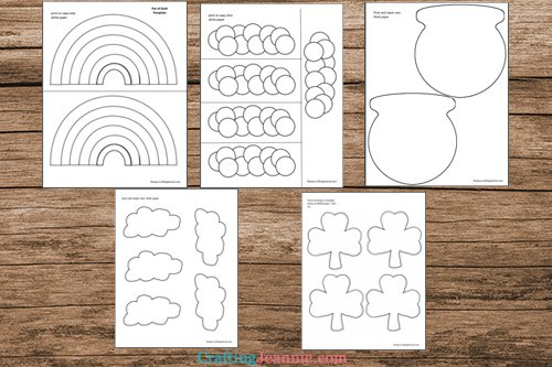 pot of gold craft template printable pages