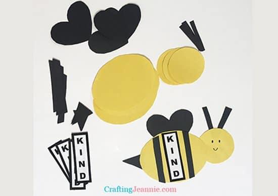 bee craft for preschoolers pieces