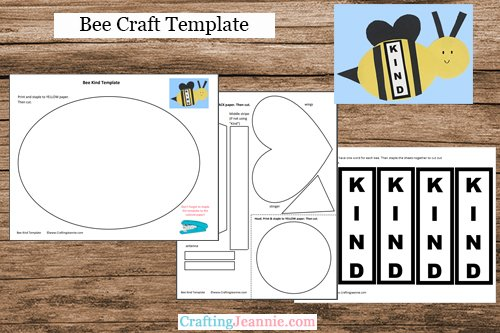 bee craft template by Crafting Jeannie