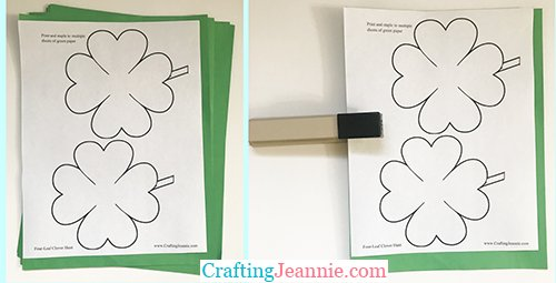 clover templates ready to cut