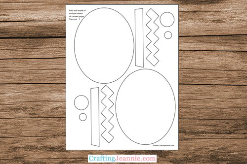 egg craft template printable pages