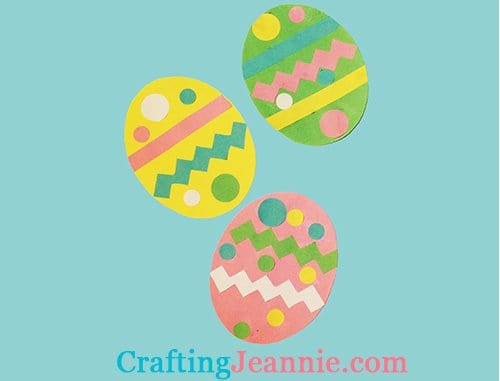 Paper Easter eggs craft