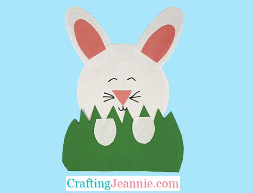hiding bunny craft by Crafting Jeannie