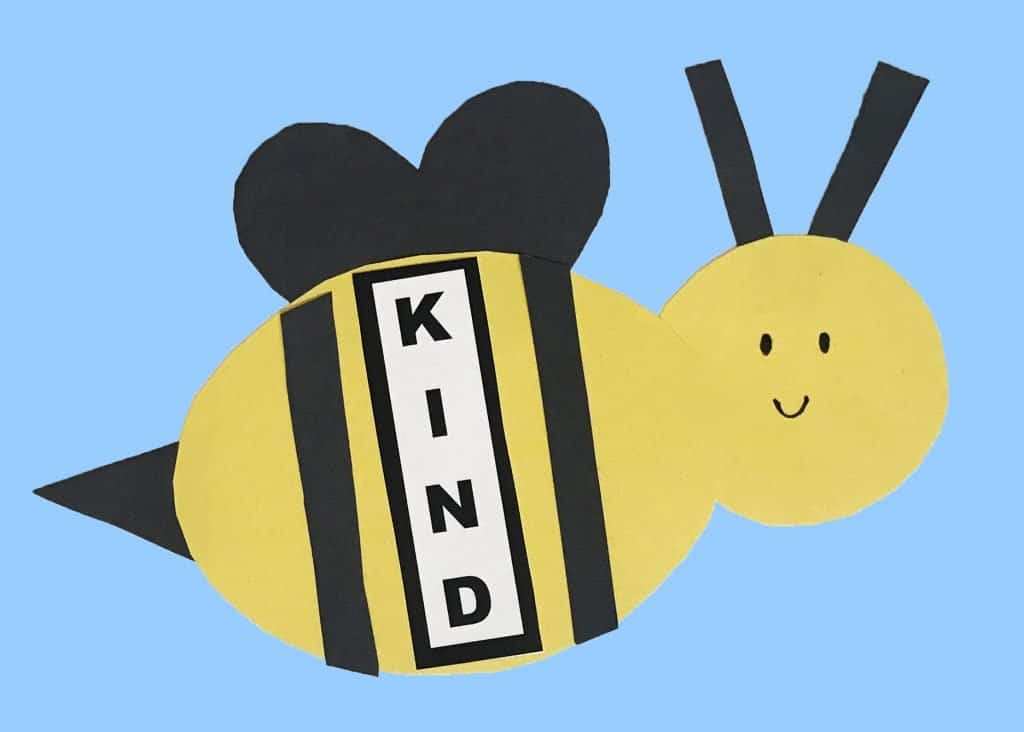 bee kind craft for kids