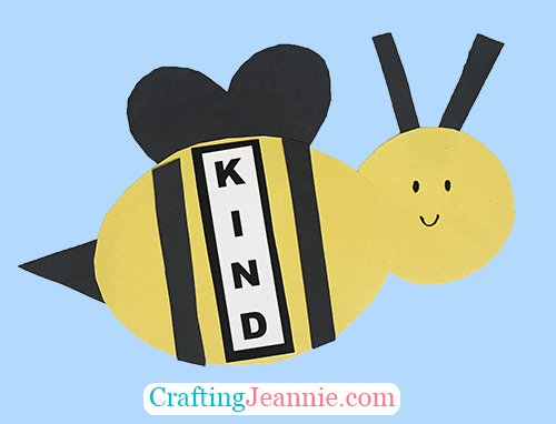 Kindness Bee Craft by Crafting Jeannie