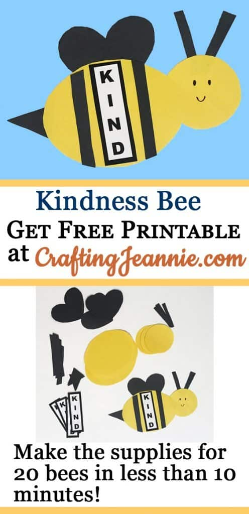 Kindness Bee craft make 20 in about 10 minutes