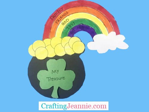 st patrick's day craft for group of kids - my treasure on shamrock