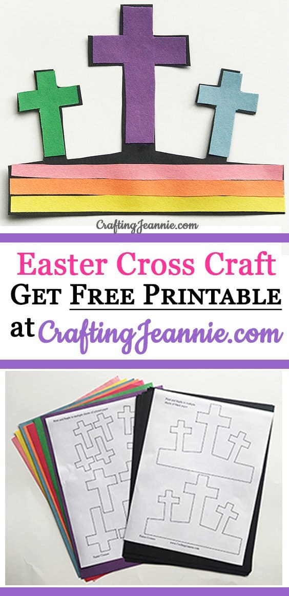 Paper easter cross craft make 20 in about 10 minutes