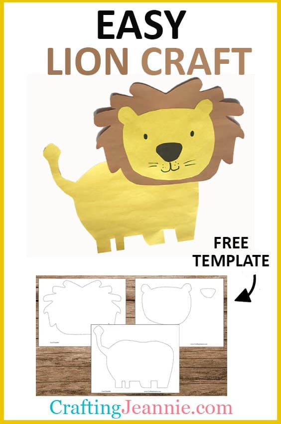easy lion craft with free template
