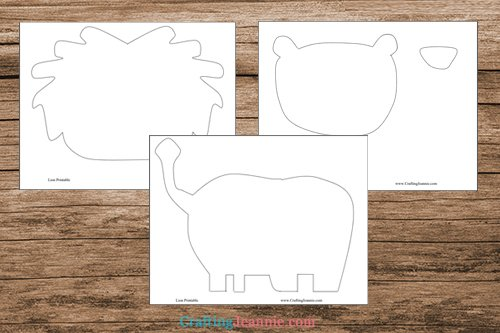 lion craft pdf template printable pages