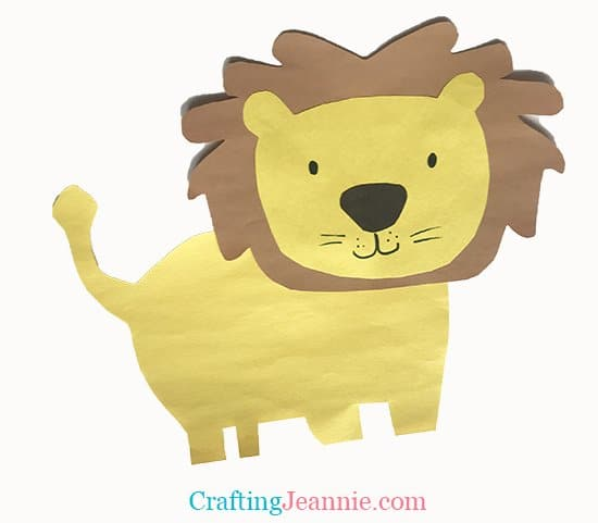preschool lion craft from crafting Jeannie