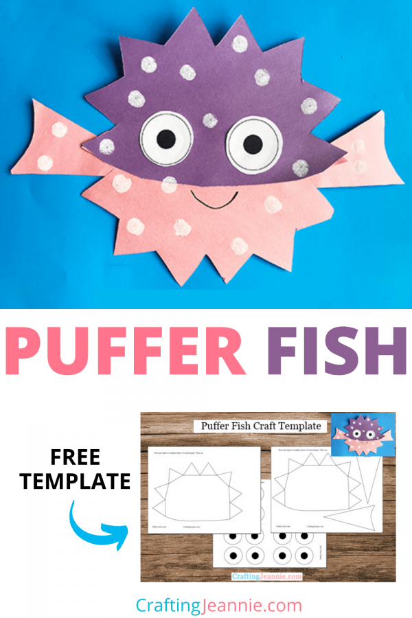 Puffer fish craft image for pinterest