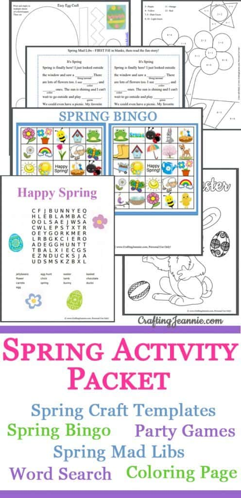 Spring Activity Packet with wordsearch, mad libs and more