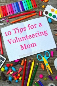 10 tips for a mom who crafts with a group of kids - picture of craft supplies
