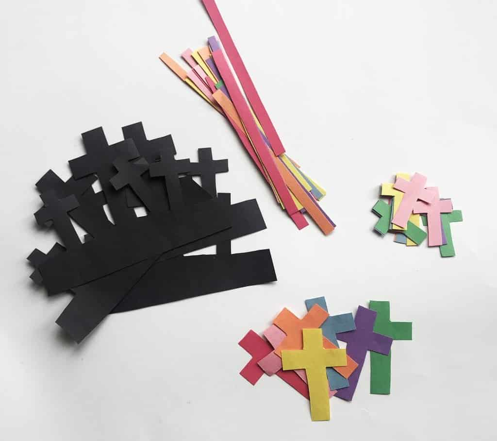 easter cross pieces for kid craft