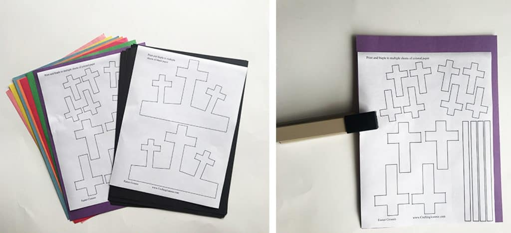 how to staple the easter cross craft