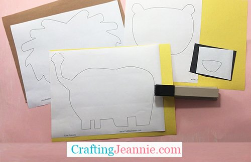 lion craft template ready to cut