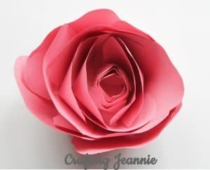 Easy paper rose craft for kid
