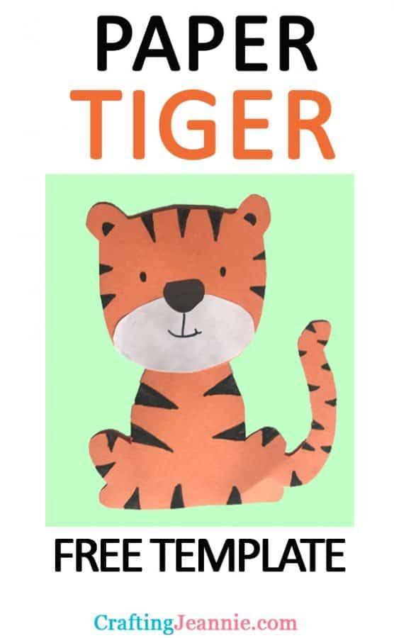 tiger craft image for pinterest
