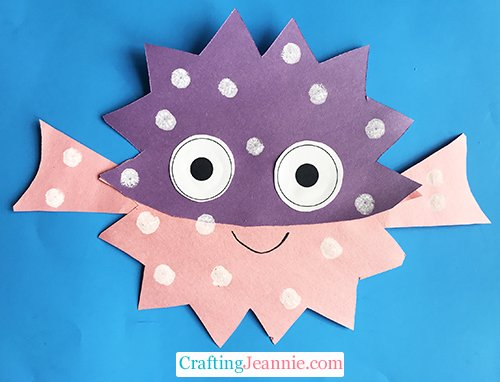 puffer fish craft by Crafting Jeannie