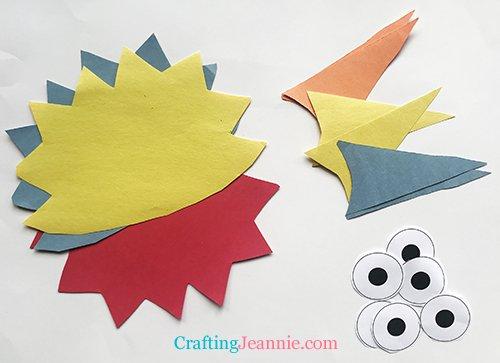 puffer fish craft pieces