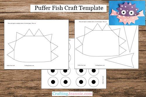 puffer fish craft template