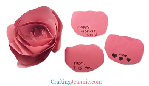Mother's Day Rose Craft by Crafting Jeannie