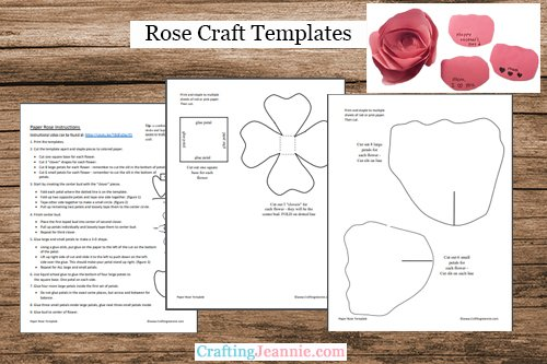 paper rose template by Craftng Jeannie
