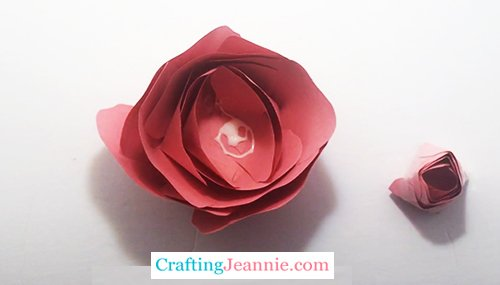rose filled with glue ready for bud