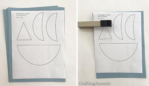 shark printable ready for cutting