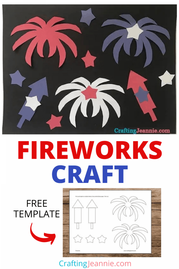Fireworks Craft for Pinterest by Crafting Jeannie