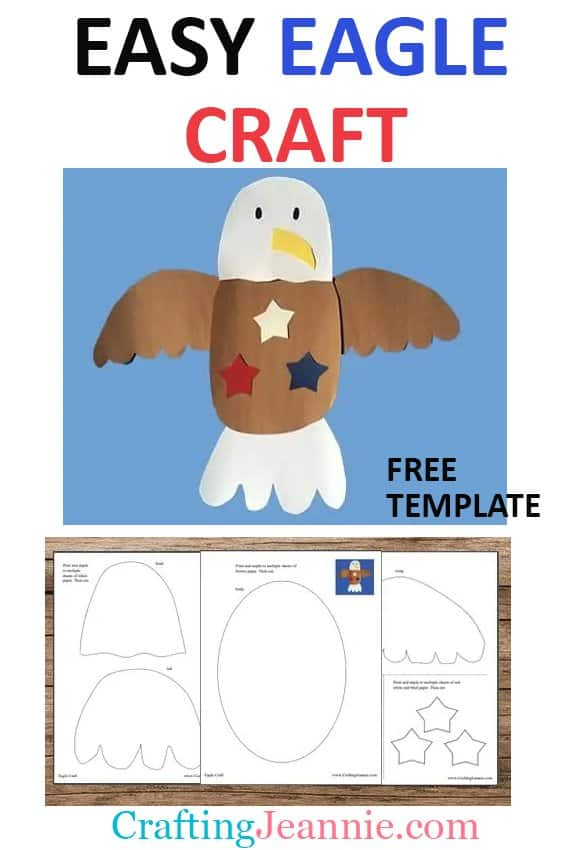 easy eagle craft with template