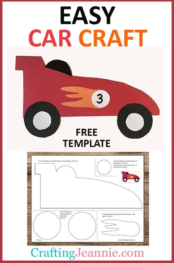 easy car craft with free template