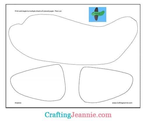 airplane craft template