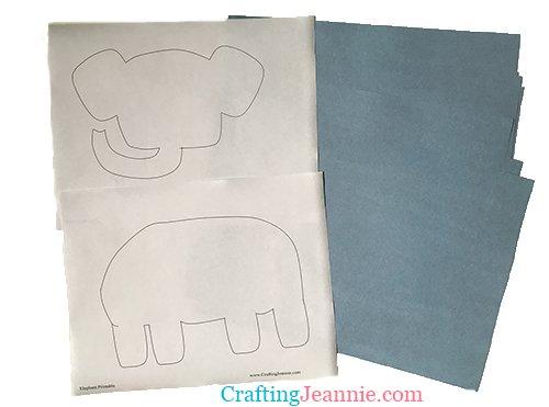 elephant craft printable
