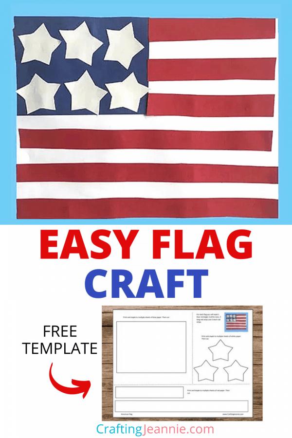 Preschool Flag Craft for Pinterest by Crafting Jeannie