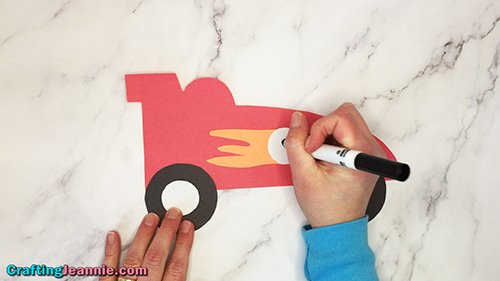 writing number on paper race car