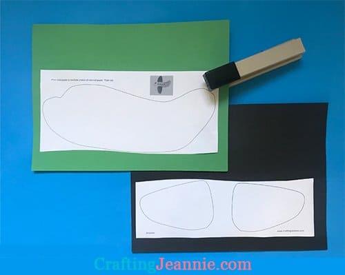 preschool airplane craft template ready to cut