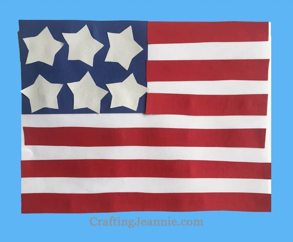 american flag easy craft for group of kids