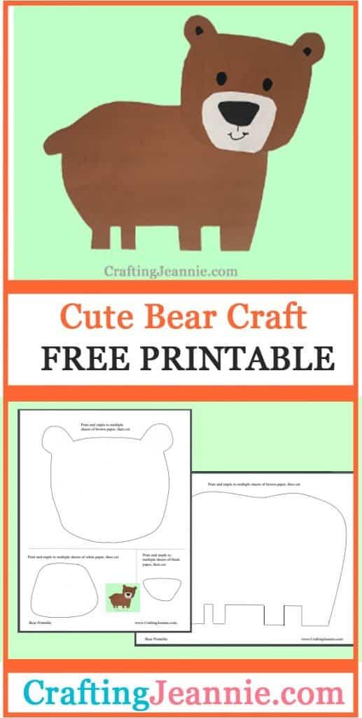 bear craft image for Pinterest