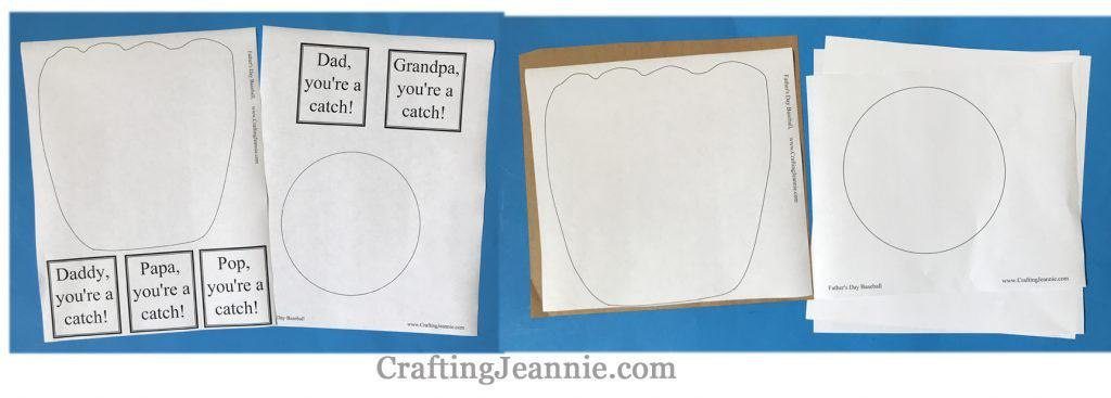 fathers day baseball craft printable ready for cutting