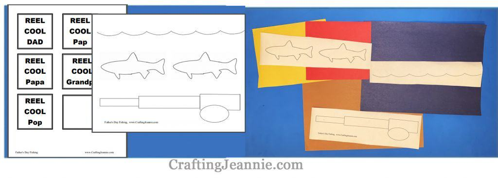 fathers day fishing craft printable ready for cutting